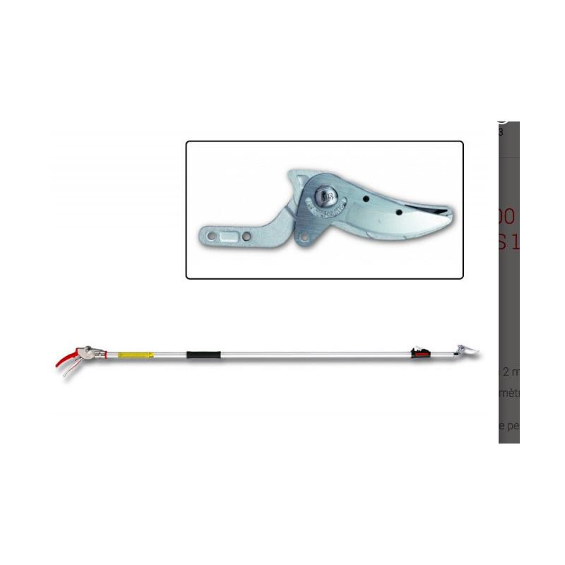 Sécateur long-manche 130-200 cm, télescopique, rouge/gris